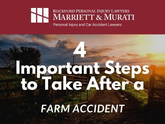 branded image of a farm for 4 steps to take after a farming accident blog post