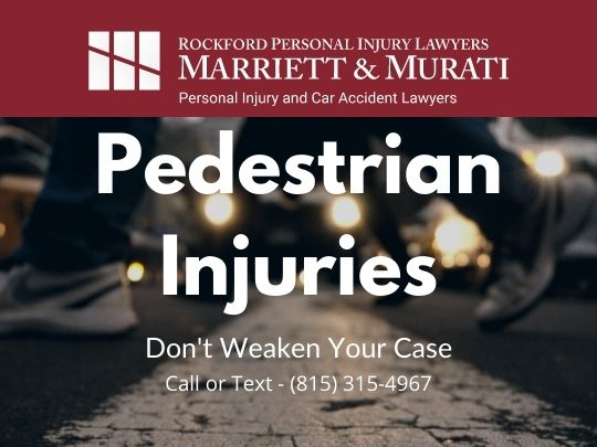 blog image for Pedestrian accidents and injuries page on Rockford personal injury